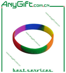 Mix Colored Silicon Wristband with Customized Logo pictures & photos