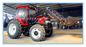 80HP, 4WD Tractor with Front End Loader&Backhoe (DQ804, TZ08D, LW-8) pictures & photos