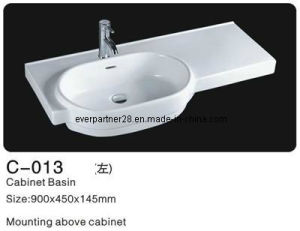 Ceramic Cabinet Washbasin, Bathroom Ceramic Cabinet Basin pictures & photos