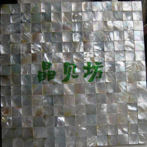 White Lip Shell Mosaic Tiles Seamless