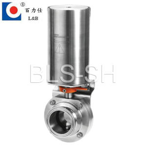Food Grade Stainless Steel Sanitary Pneumatic Butterfly Valve pictures & photos