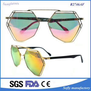 New Designer Fashion Coating Coated High Quality Metal Sunglasses pictures & photos