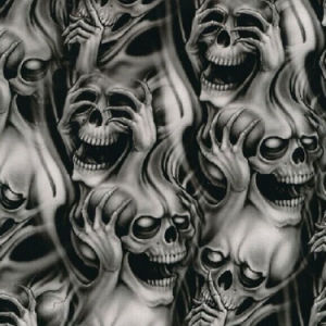 Kingtop 0.5m Width Skulls and Flame Design Hydrographics Print Film pictures & photos
