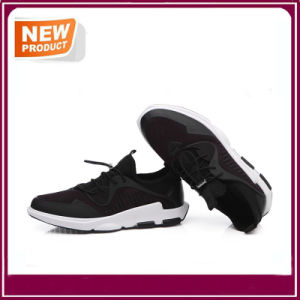 Black Shockproof Walking Comfortable Sport Running Shoes pictures & photos