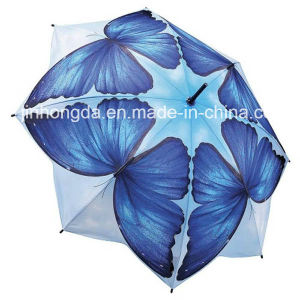 8 Panels Butterfly Pattern Straight Umbrella (YSC0016) pictures & photos