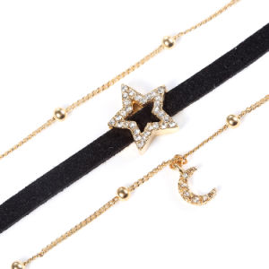 Wholesale Star Moon Multi-Layer Imitation Jewelry Fashion Accessories Choker Necklace pictures & photos