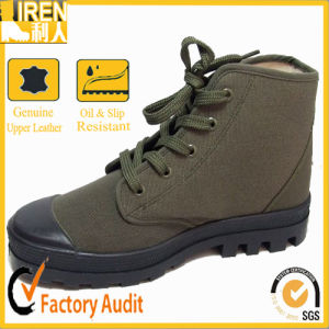 Durable Green Canvas Safety Comfortable Training Shoes pictures & photos