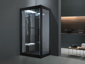 Superb Black Single Capacity Steamroom with Tempered Glass (M-8282) pictures & photos