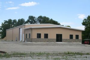 Large Span Prefabricated Steel Structure Warehouse Shed for Cube Suger pictures & photos