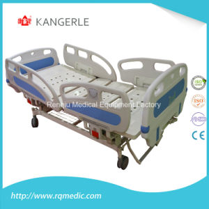 (CE, ISO) Double-Crank Manual (Side Rail Angle Indicator) Hospital Bed, Medical Bed pictures & photos
