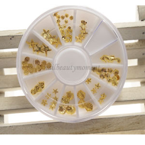 DIY 3D Metal Nail Art Decoration Beauty Products Wheel (D82) pictures & photos