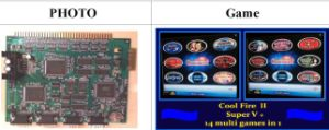 Coolfire 2, Super V+ 14 in 1, Super V+ 6 in 1, Gaminator, Slot Game Machine, Casino Game Board