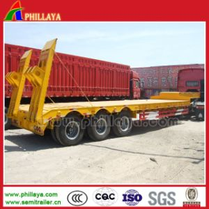 Factory Price 60ton Heavy Low Deck / Lowbed Trailer for Excavator pictures & photos