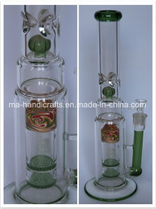 """17"""" Colorful Smoking Water Pipes with Double Honeycomb Percolator pictures & photos"""