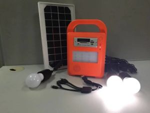 Solar LED Lights Home Power System with FM Radio and SD Card Player pictures & photos