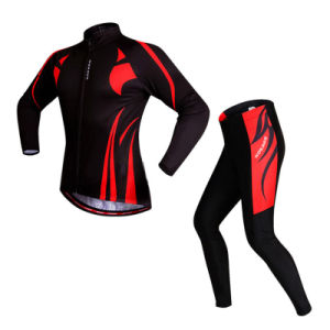 Custom Men Sublimated Long Sleeves Cycling Jersey and Pants pictures & photos