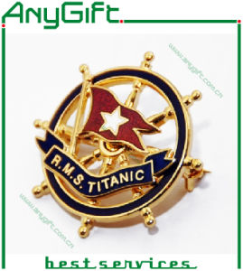 Copper Stamped 3D Pin Badge with Customized Logo pictures & photos