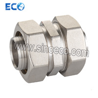 Brass Straight Double Male Coupler Pipe Fitting Bite Type Fittings pictures & photos