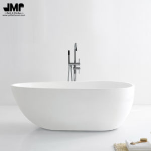 "59""/66.9""Freestanding Ellipse White Bath Tub Acrylic Soaking Bathtub (2181) pictures & photos"