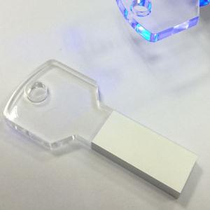 Metal Aryclic USB Key Transparent House Key USB Stick pictures & photos