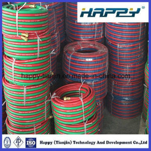 Oxygen Acetylene Rubber Twin Welding Hose pictures & photos