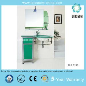 Hot Sale Bathroom Glass Basin Vanity (BLS-2148) pictures & photos