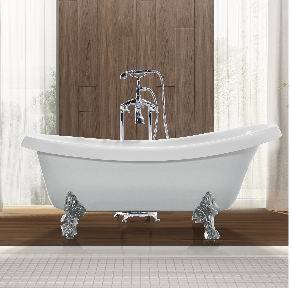 Simple with Legs Removable Acrylic Indoor Bathtub (JL623) pictures & photos