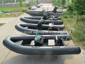 4.7m Military Boat for Sea, Cheap China Boat, Luxury Inflatable Boat with PVC R Hypalon Boat with Rigid Hull pictures & photos