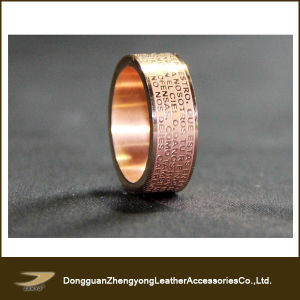 English Cross Christian Prayer Stainless Steel Gold Ring (ZY-A68)