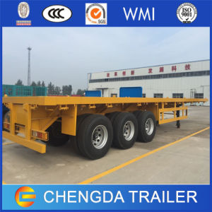 ATV Trailer Type 3 Axle Flatbed Semi-Trailer pictures & photos