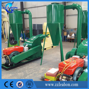 China Made High Quality Wheat Straw Tree Branch Sunflower Grass Rice Husk Diesel Engine Crusher Machine pictures & photos