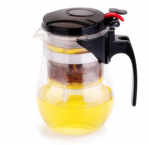 750ml Brosilicate Glass Tea Kettle with Filter pictures & photos