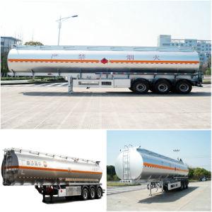 Straight Aluminum Tanker Trailer 42000L~44000L 3 Axle