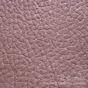 Embossed Pattern Micro Suede Leather Fabric for Home pictures & photos
