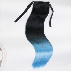 Long Straight Claw Clip in Ponytail Synthetic Hairpiece pictures & photos