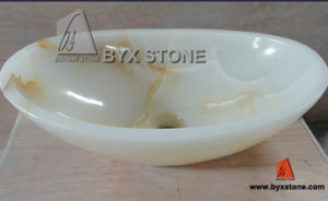Afghan White Onyx / Marble Bathroom Oval Sink / Washbasin pictures & photos