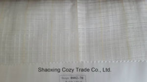 New Popular Project Stripe Cross Organza Voile Sheer Curtain Fabric 008270 pictures & photos