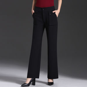 High Quality New Arrival Black Trousers Casual Pants for Women pictures & photos