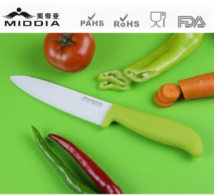 Green Handle White Blade Ceramic Chef Knife pictures & photos