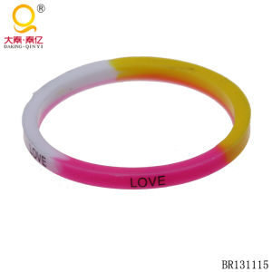 Silicone Bracelet Colorful Love Bracelet pictures & photos