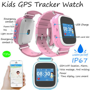 Waterproof IP67 Kids GPS Tracker Watch with Colorful Screen pictures & photos
