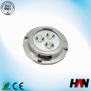 Color Changed 12V 9W LED Underwater Boat Light