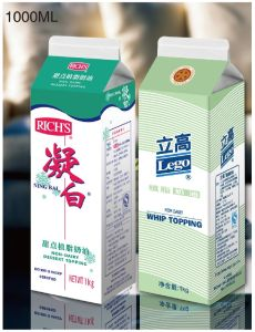 1L 3 Layers Cream Gable Top Carton pictures & photos