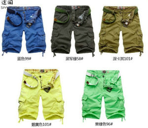Men′s Cargo Fashion Cotton Washed Pocket Casual Shorts pictures & photos