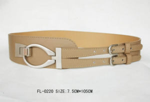 Ladies Fashion Belt with Double Buckle Fl-0220 pictures & photos