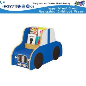 Car Bookcase Storage Cabinet Children Wooden Furniture Hc-3708 pictures & photos