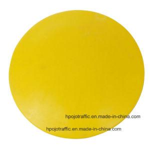 Yellow Ceramic Reflective Cat Eye Road Marker Stud