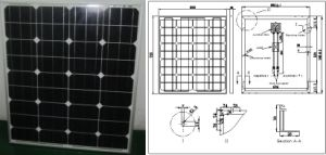 18V 70W 75W 80W Monocrystalline Solar Panel PV Module with Ce Approved pictures & photos