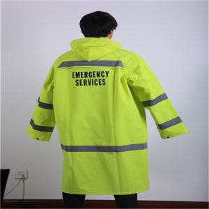 High Quality Fluorescent Reflective Emergency Raincoat pictures & photos