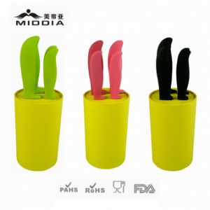 Colorful Handle Kitchen Ceramic Knife Set with Non-Slip Holder pictures & photos